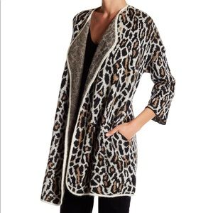 Joie Animal print wool blend cardigan